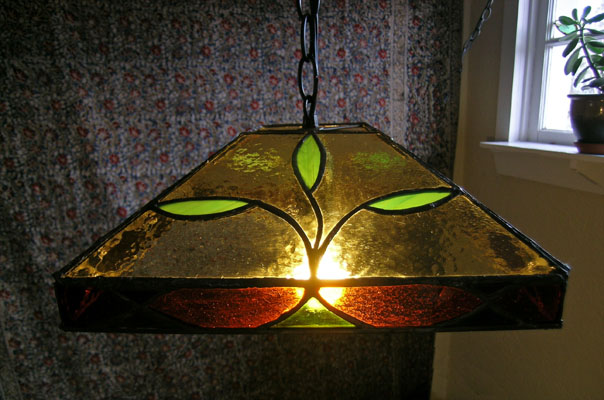 Piece of Stained Glass - Cob Cottage Lamp