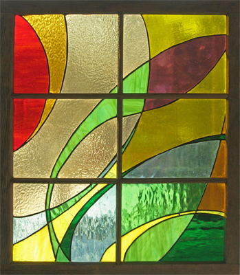 Piece of Stained Glass - Fire / Earth