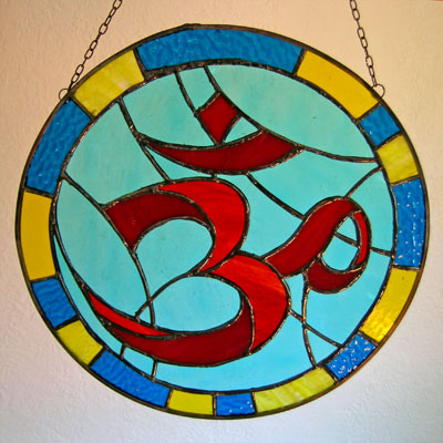 Piece of Stained Glass - Om